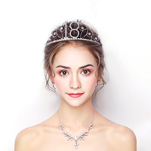 Frcolor Alles Gute zum Geburtstag 18. Silber Kristall Tiara Krone - 6