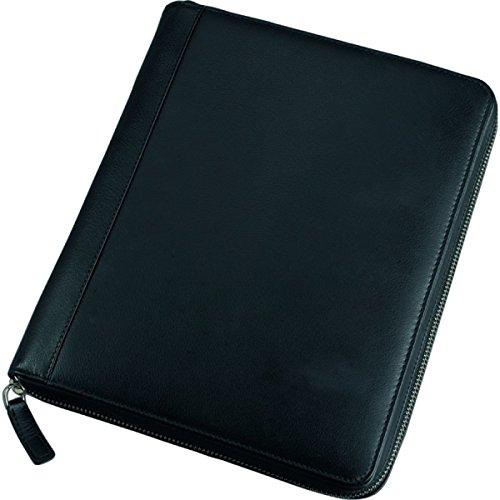 Alassio 41101 - Tablet-PC Hülle, aus echtem Leder, schwarz, ca. 21,5 × 25,5 × 3,5 cm