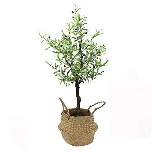 Yipianyun Palme Palmenbaum Königspalme, Cocospalme Kunstpflanze Kunstbaum Künstliche Pflanze Echtholz Hochzeit/Party Empfangstisch Blumen,Natural,120