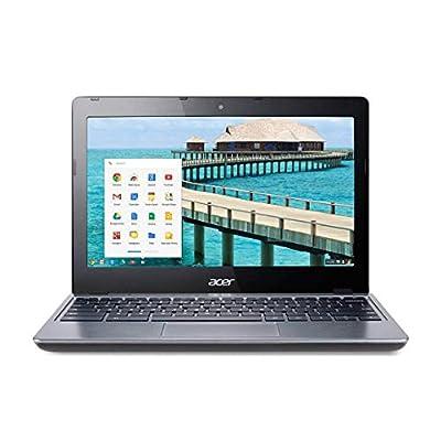 (Renewed) Acer C720 11.6in Chromebook Intel Celeron 1.40GHz Dual Core Processor, 2GB RAM, 16GB W/Chrome OS