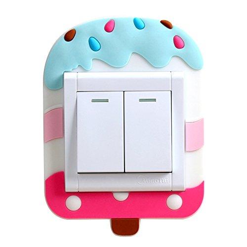 Lubier Color helado, cubierta del interruptor, interruptor luminoso, pegatina de pared, creativa sala de estar, lámpara del dormitorio, toma de pared, cubierta decorativa