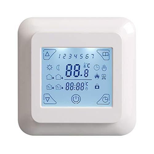 FTVOGUE Thermostat de Chauffage programmable Smart WiFi R/égulateur de temp/érature /écran LCD num/érique Touch Screen Wirless Thermostat pour chaudi/ères