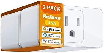 2-Pack Refoss Apple HomeKit Smart Plug with Timer Function