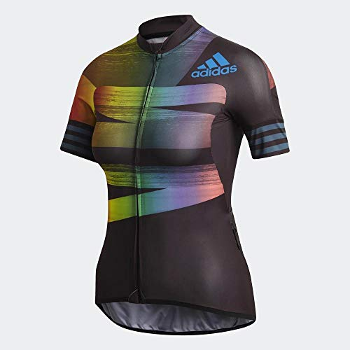 adidas Adistar.Pride.W Camiseta, Mujer, Negro/azuglo, XS