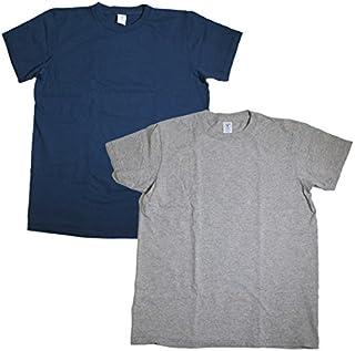 (ベルバシーン) Velva Sheen 160919 半袖 丸首 クルーネックTシャツ ポケット無 2枚組 全10パターン