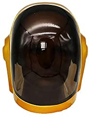professional xcoser Daft Shining Punk Voice Control Helmet, LED Lights, Full Head Robot Mask