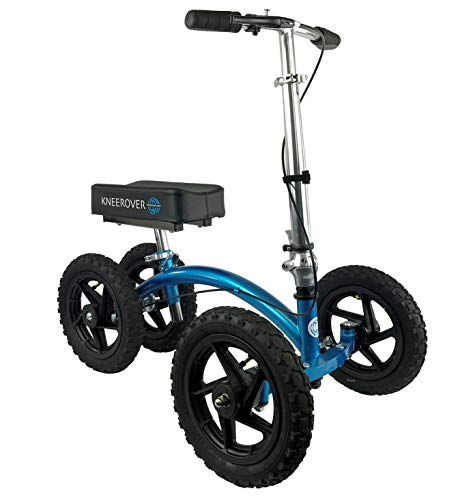 KneeRover QUAD All Terrain Knee Walker in Metallic Blue