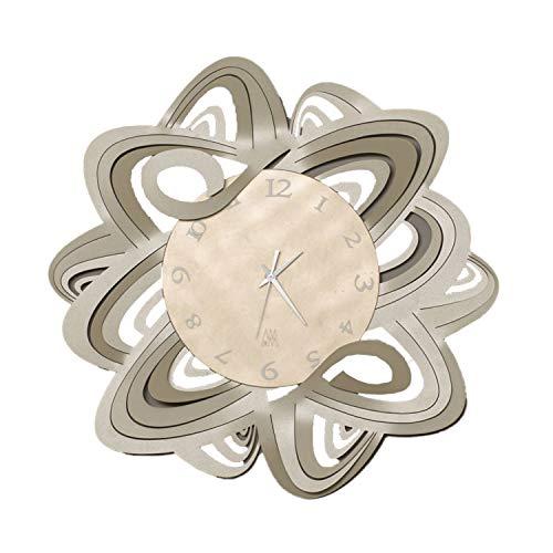 Arti & Mestieri Penelope - Orologio da Parete di Design 100% Made in Italy - in Ferro, Diametro 50 cm - Sabbia