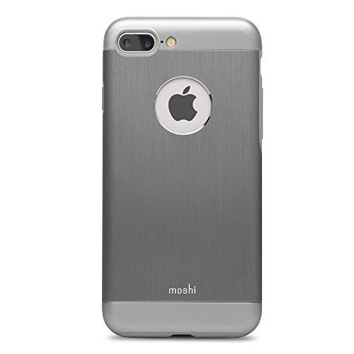 Moshi iGlaze Armour - Funda para Apple iPhone 7 Plus, Color Gris