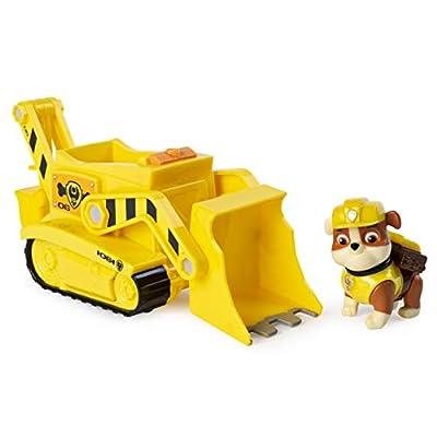 PAW PATROL 6053384 Excavadora transformadora de Rubble's con Herramientas Pop-out para niños de 3 años en adelante, Multicolor por Spin Master