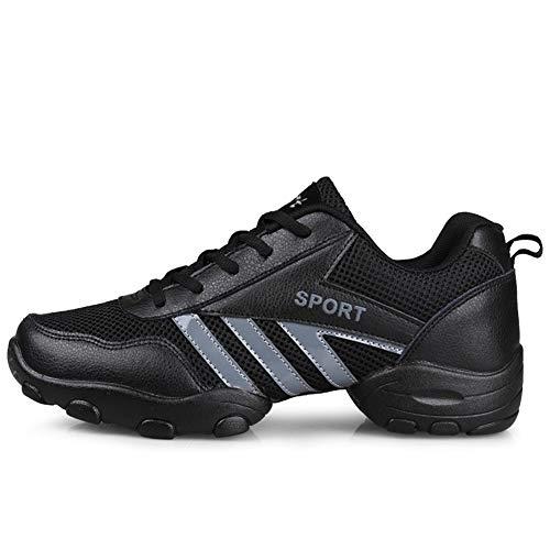 Scarpe da Ballo Latino Uomo Comode Pelle Classiche Scarpe Danza Sneaker Sala da Ballo Liscio Jazz Shoe