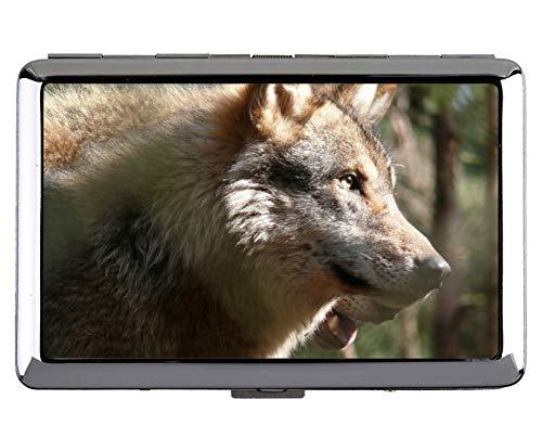 Kreative Aufbewahrungskoffer, Tier Wolf hohl Schutz Credit Visitenkartenetui