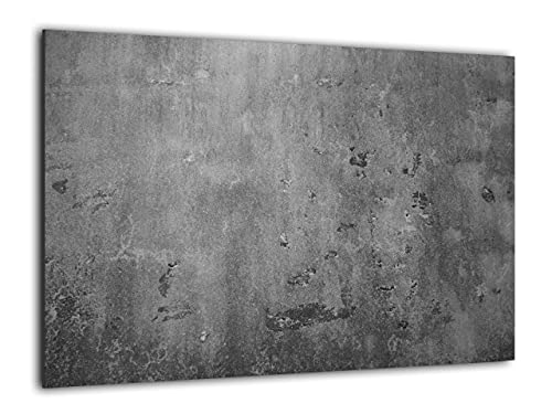 ALLboards Glas Magnettafel Betonmauer Zementmauer Zement 60x40cm Glasbild Memoboard aus Glas Glastafel mit Betonwand-Motiv Magnetwand zum Beschriften Magnetische Tafel Wanddekoration Wandbild