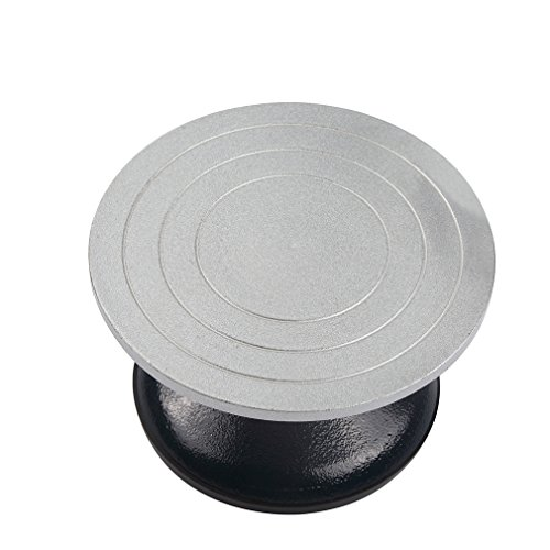 Falling in Art Heavy Duty Metal Pottery Decorating Banding Wheel, 7 Inches Diameter