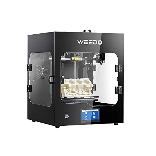 WEEDO F152S 3D Printer-Support (PLA/ABS/TPU/PC/NYLON) Printing Materials, Fully Enclosed, (200X185X195mm)Heated Removable Glass Bed,Auto power-off,Auto Bed leveling,Built-in Filament Runout Detection