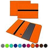 UC-Express Sleeve Hülle für Medion Akoya S3409 E4254 S4219 E3216 E3215 E3223 E4253 13-14 Zoll Tasche Filz Notebook Cover Etui Case, Farbe:Orange