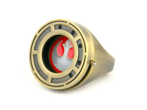 Star Wars The Last Jedi Rose Tico's Prop Replica Resistance Ring with Shutter- Size 7