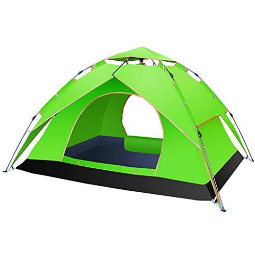 BRFDC Tienda De Campaña Automático Surgir Tienda 3-4 Persona Impermeable Plegable Portátil Multifuncional Carpa for Camping, 3 Colores (Color : Green)