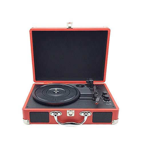 OOFAY Portable USB-Plattenspieler Für 33/45/78 Vinyl-LP, Weinlese-Koffer Plattenspieler Mit Stereo-Lautsprechern