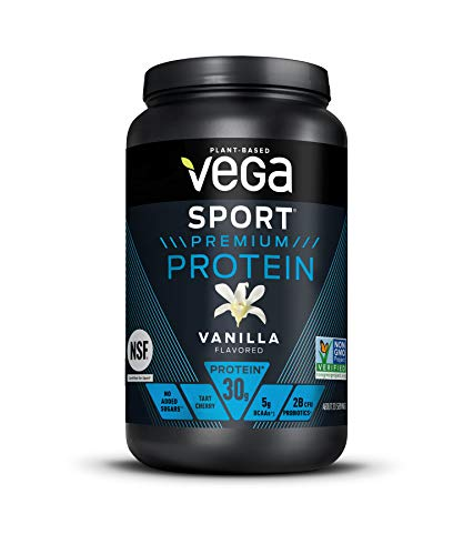 Vega Sport Premium Protein Powder, Vanilla, Plant Based Protein Powder Post Workout - Certified Vegan, Vegetarian, Keto-Friendly, Gluten Free, Dairy Free, BCAA Amino Acid (20 Servings / 1lb 13.2 oz)