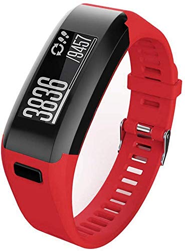 Meoket Compatible para Garmin Vivosmart HR Smart Watch,Correa de Silicona Garmin Vivosmart HR Smart Watch (Rojo)