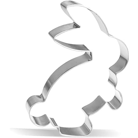 """8cm secure KAISER spring /""""Mini/"""" rabbit-shaped cookie cutter light pleasant handling precise cutting made of stainless steel Premium quality"""