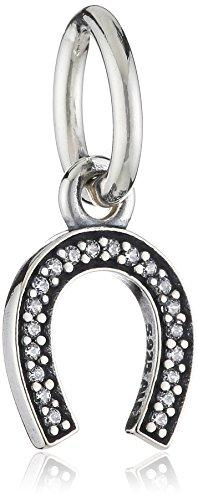Pandora Damen-Charm 925 Sterling Silber Zirkonia weiß 791306CZ