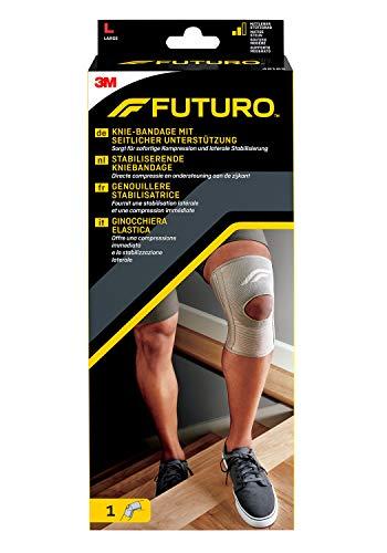 FUTURO FUT46165 Classic Knie-Bandage, beidseitig tragbar, Größe L, 43,0 – 49,5 cm