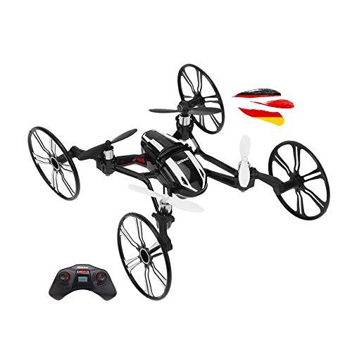 4,5 canali, 2,4 GHz, radiocomandato 4 in 1, quadricottero UFO e veicolo con telecamera HD, protezione del rotore, giroscopio 6 assi, looping 3D, set completo con batteria, set di ricambio