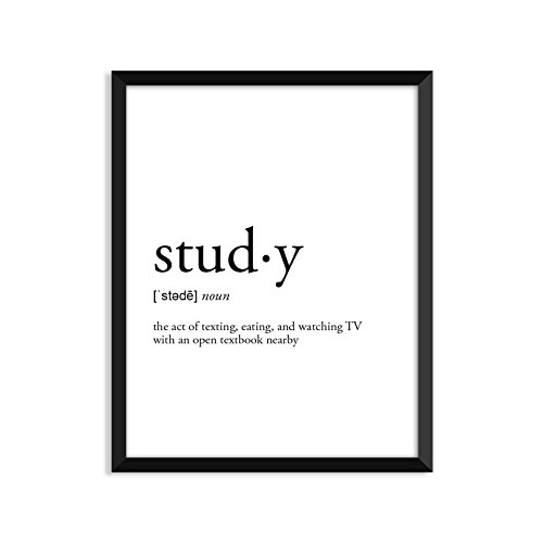 Serif Design Studios Study Definition - Unframed Art Print Poster Or Greeting Card