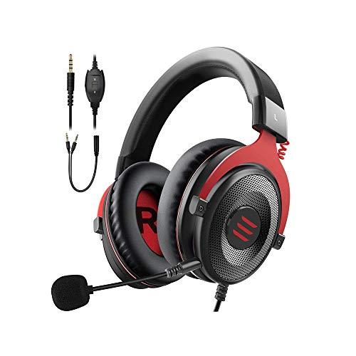 L&B-MR Auriculares para Juegos Auriculares PS4 Auriculares para Juegos para PC con Micrófono con Cancelación De Ruido Suave para PC Videojuego para Computadora Portátil