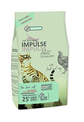 IMPULSE Pienso para Gatos Esterilizados Natural Cat Sterilized 8 Kg