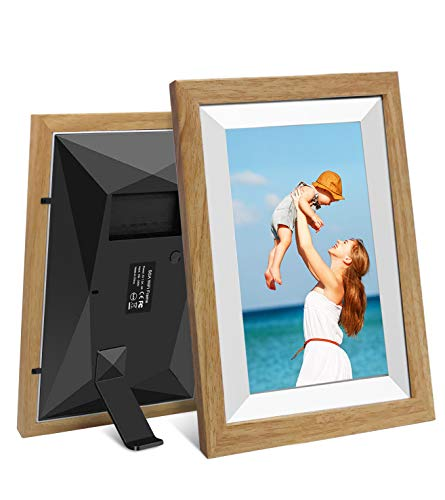 Digitaler Bilderrahmen WiFi 10-Zoll-YENOCK Foto und Video sofort über App/Facebook/Twitter/E-Mail teilen Überall Touchscreen-Display, automatische Drehung, Bewegungssensor, 16 GB Speiche