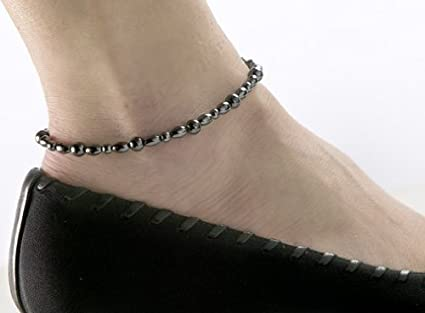 Hematite Stackable Knotted Anklet