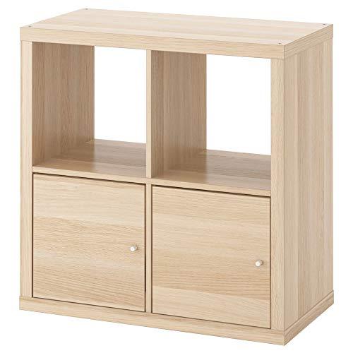 Houder met deuren wit gekleurd eiken effect, gemonteerde grootte Breedte: 77 cm Diepte: 39 cm Hoogte: 77 cm Max. Laad/plank: 13 kg