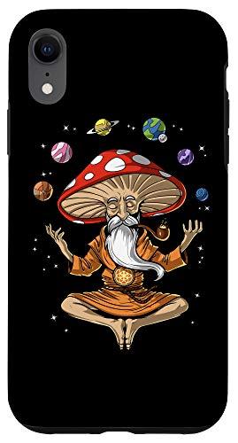 iPhone XR Mushroom Buddha Zen Yoga Meditation Psychedelic Hippie Fungi Case