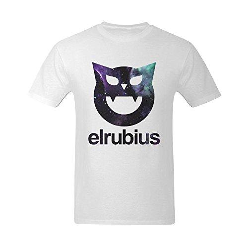 OKKUII Men's Elrubius Logo El Rubius T-Shirt Medium