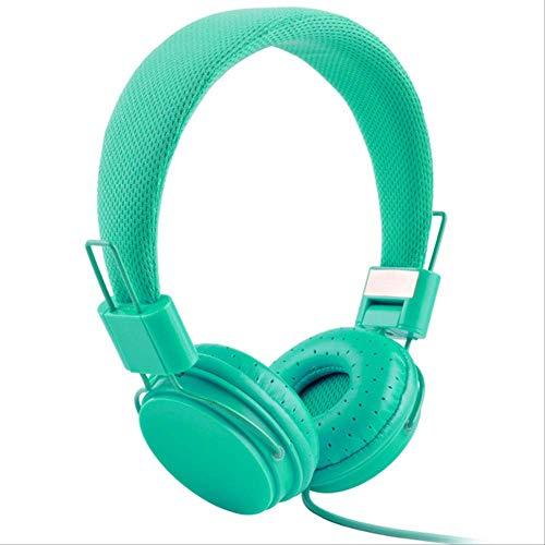 kjzn Hoofdtelefoon Stereo Bass Kids Hoofdtelefoon Met Microfoon Muziek Koptelefoon Hoofdtelefoons Kleine Oortelefoon B Mint Groen
