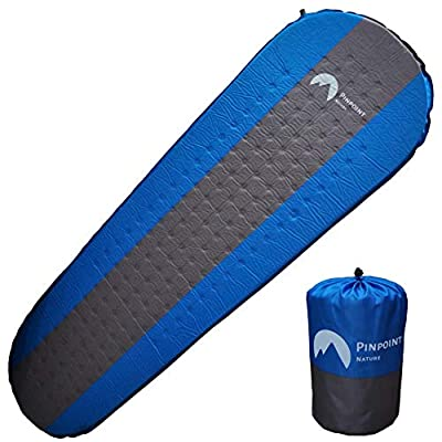 Self Inflating Sleeping Pad - Effortless Inflating - Comfortable with 1.5 inch Think, Waterproof and Insulated Camping Mat without Air Leak - Lightweight and Compact for Camping, Backpacking, Canoeing