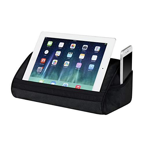 LapGear Original Microbead Tablet Pillow Stand with Phone Pocket - Black - Fits Most Tablets - Style No. 35068