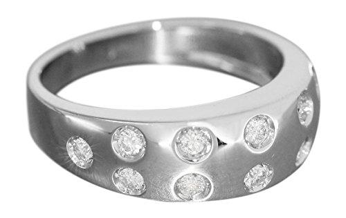 Luxe ring witgoud 750 met 12 briljanten ca. 0,50 ct. Damesring 18 karaat hobra-goud