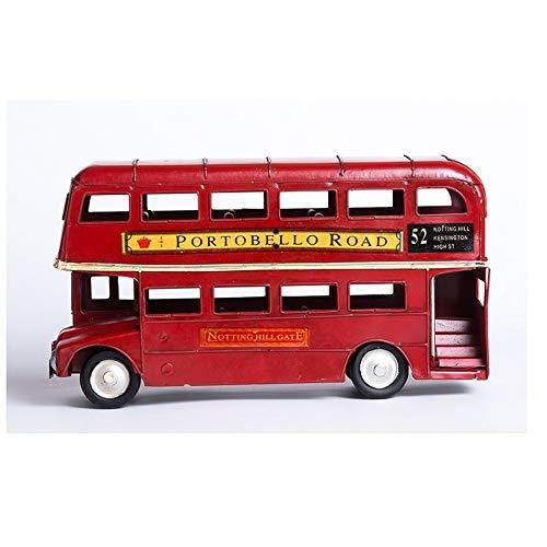 Sera in a hat Metall Handwerk Exquisite Edition Dubbele deken bus creatieve decoratie ornament metaal 29x9x15