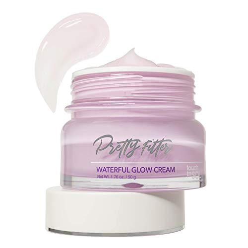 TOUCH IN SOL Pretty Filter Waterful Glow Cream 1.69 fl.oz. (50g) - Moisture Boosting Facial Cream for Makeup, Hypoallergenic Lightweight Fresh Gel Type Cream, Skin Soothing & Sebum Control