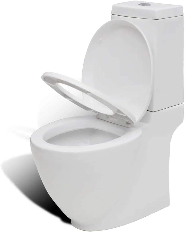 Arichtop Design Stand-Toilette WC Keramik inkl. Soft Close WC Sitz