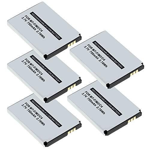 MeXXstar 5 x Akku für AVM Fritz!Fon MT-F / M2 / C4 / C5 / 312BAT006 (Li-Ion - 750mAh/2,78Wh) (5X)