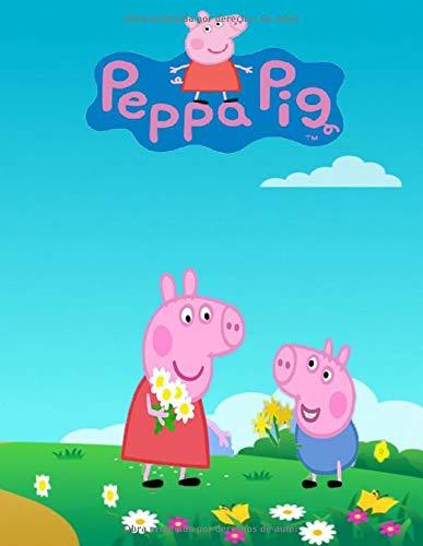 Peppa Pig: Libro para colorear 80 Peppa Pig para niños de 2 a 6 años