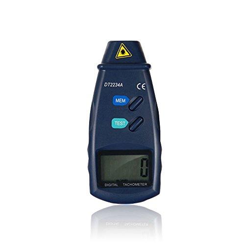 Tachometer Digitalanzeige NUZAMAS LCD RPM Test Kleines Motor Geschwindigkeitsmessgerät Messgerät Messgerät ohne Kontakt Großer Messbereich 2,5-99999 RPM