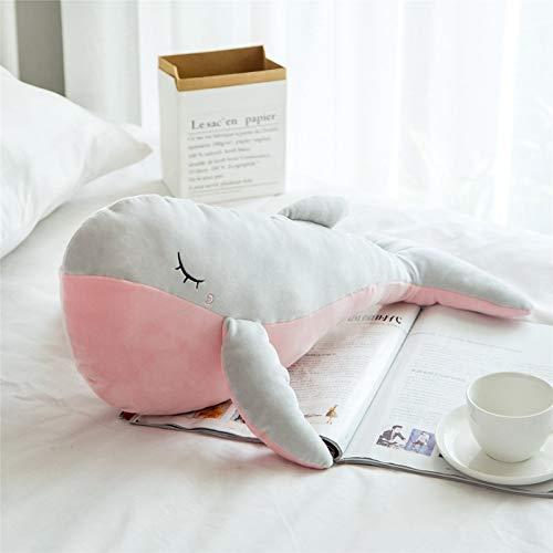 huobeibei Precioso Juguete de Peluche de delfín para Dormir Suave Relleno de Dibujos Animados Animal Ballena muñeca Siesta sofá Silla Almohada cojín niños 80cm A