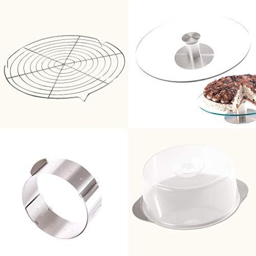 Mbuynow aluminium drehbare Tortenst/änder /Ø 30cm Kuchen Backen Dekor Werkzeuge Tortenplatte drehbar Tortenst/änder