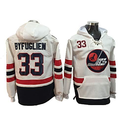Yajun Kapuzen Pullover Hoodie NHL Patrik Laine#29/Dustin Byfuglien#33/Mark Scheifele#55 Winnipeg Jets T-Shirt Slim Fit Sweatshirt Weich Langarm Winter Eishockey Trikots,33,XL